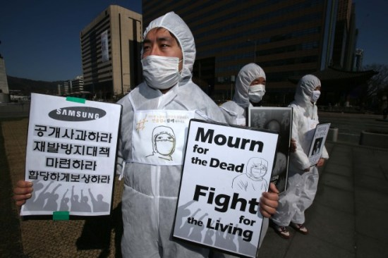 SHARPS's eight-year advocacy campaign has entered into a new stage as Samsung attempts to compensate occupational disease victims on its own divisive terms.  Source: The Huffington Post Korea